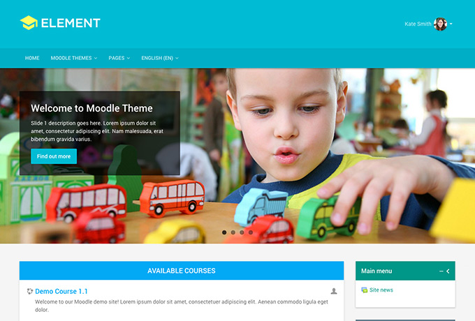 Responsive Moodle Theme Element
