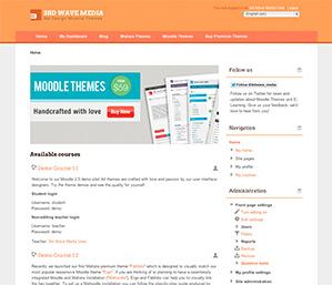 Free Moodle Theme Mandarin