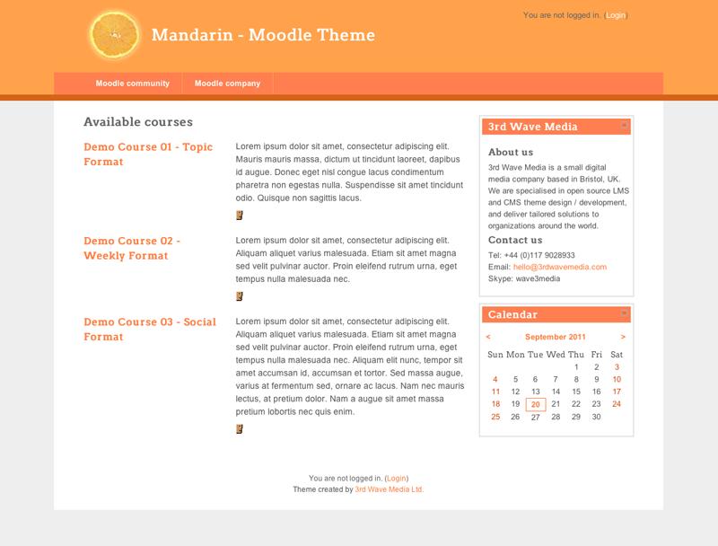 Moodle Theme - Mandarin