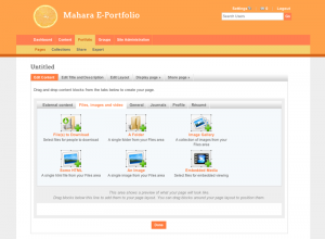 mahara theme screenshot