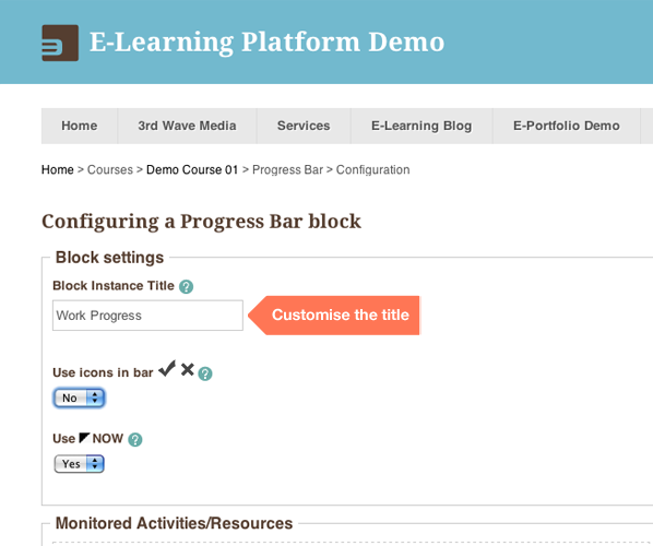 How to visually track student progress in a Moodle course