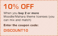 10% off when you buy 2 or more theme licenses. Enter the coupon code: DISCOUNT10