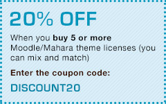 20% off when you buy 5 or more theme licenses. Enter the coupon code: DISCOUNT20
