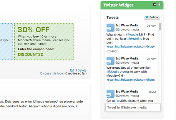 moodle-twitter-widget-embeded