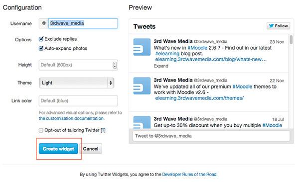 twitter-generate-widget-code