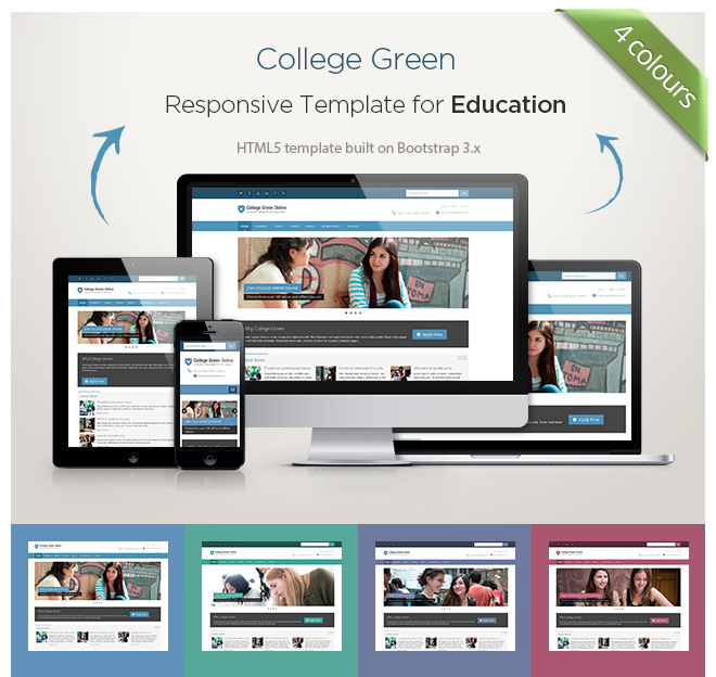 Responsive Html5 Website Template For Education