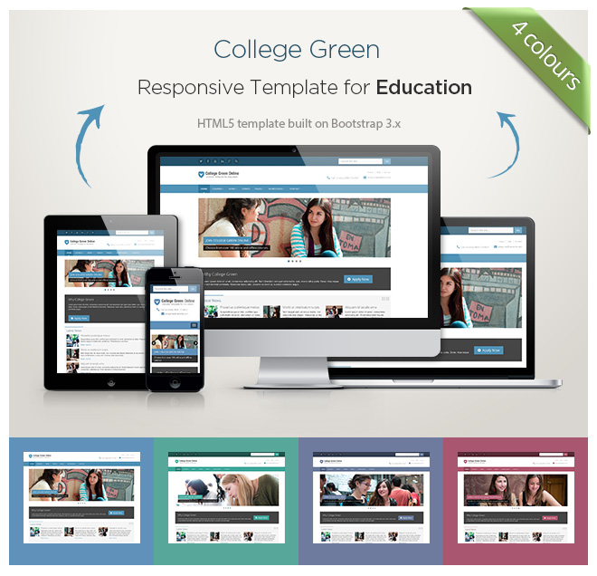 A Responsive Education Website Template