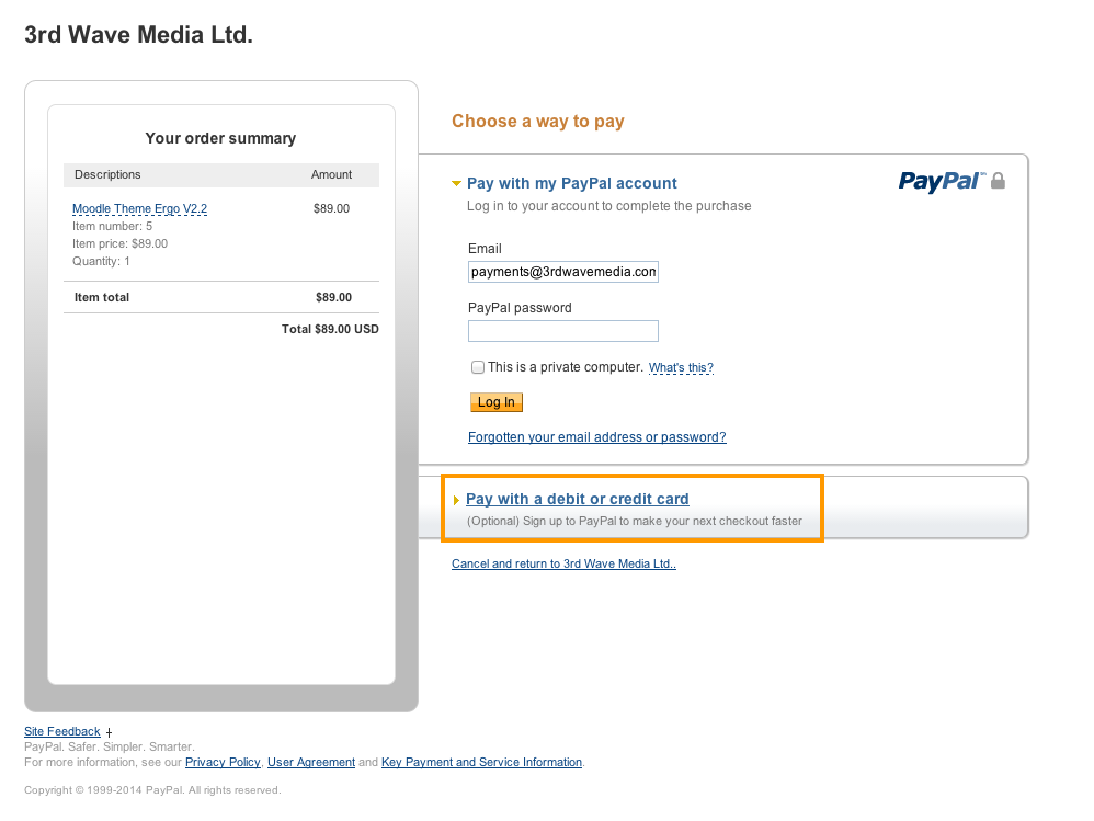what stores accept paypal pay after delivery