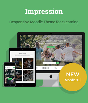 Responsive Moodle Theme Impression