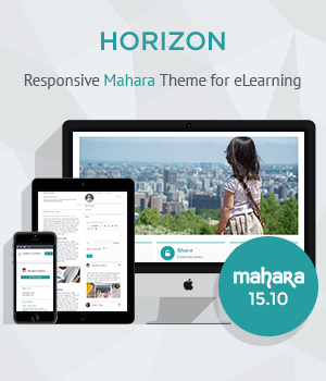 Responsive Mahara Theme Horizon