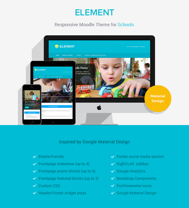 Element - Responsive Moodle Theme for Schools/Colleges