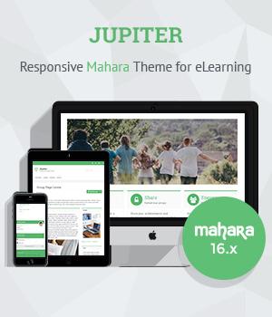 Responsive Mahara Theme Jupiter