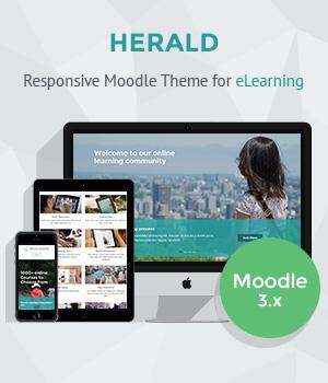Responsive Moodle Theme Herald