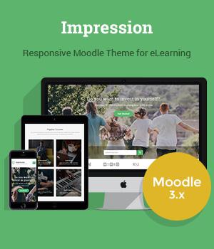 Responsive Moodle Theme Impression