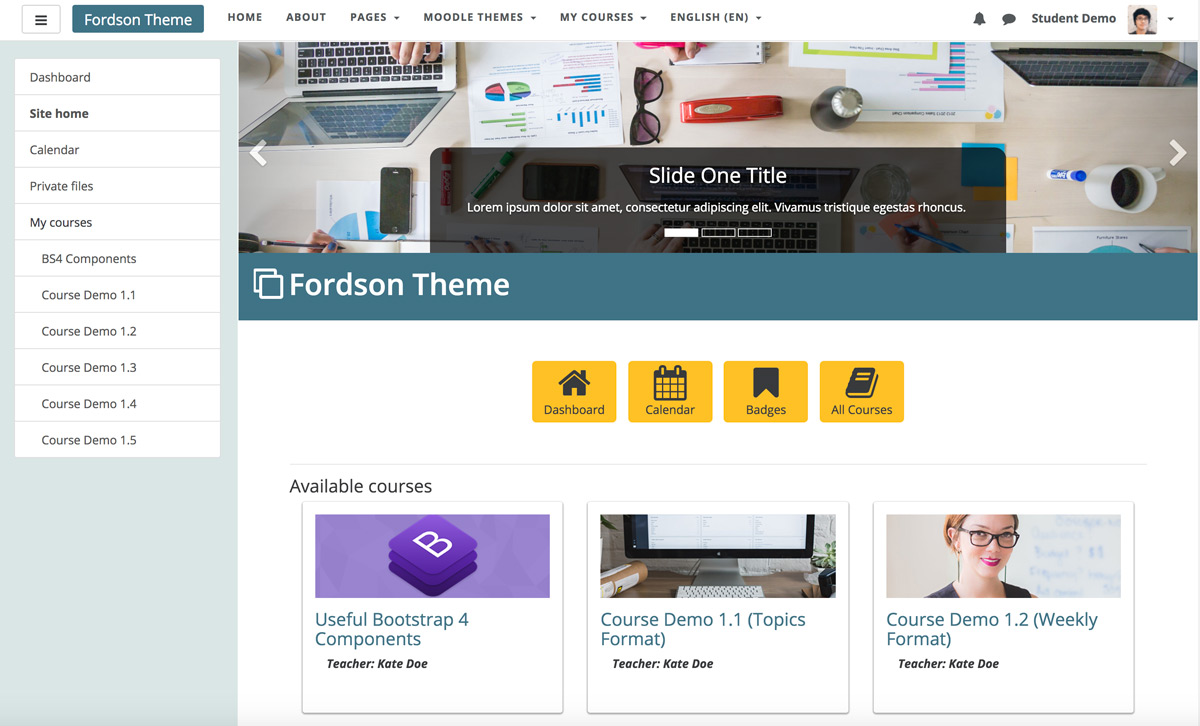 moodle-theme-fordson-theme-frontpage-for-loggedin-users