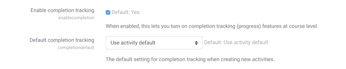 moodle-enable-course-completion-tracking