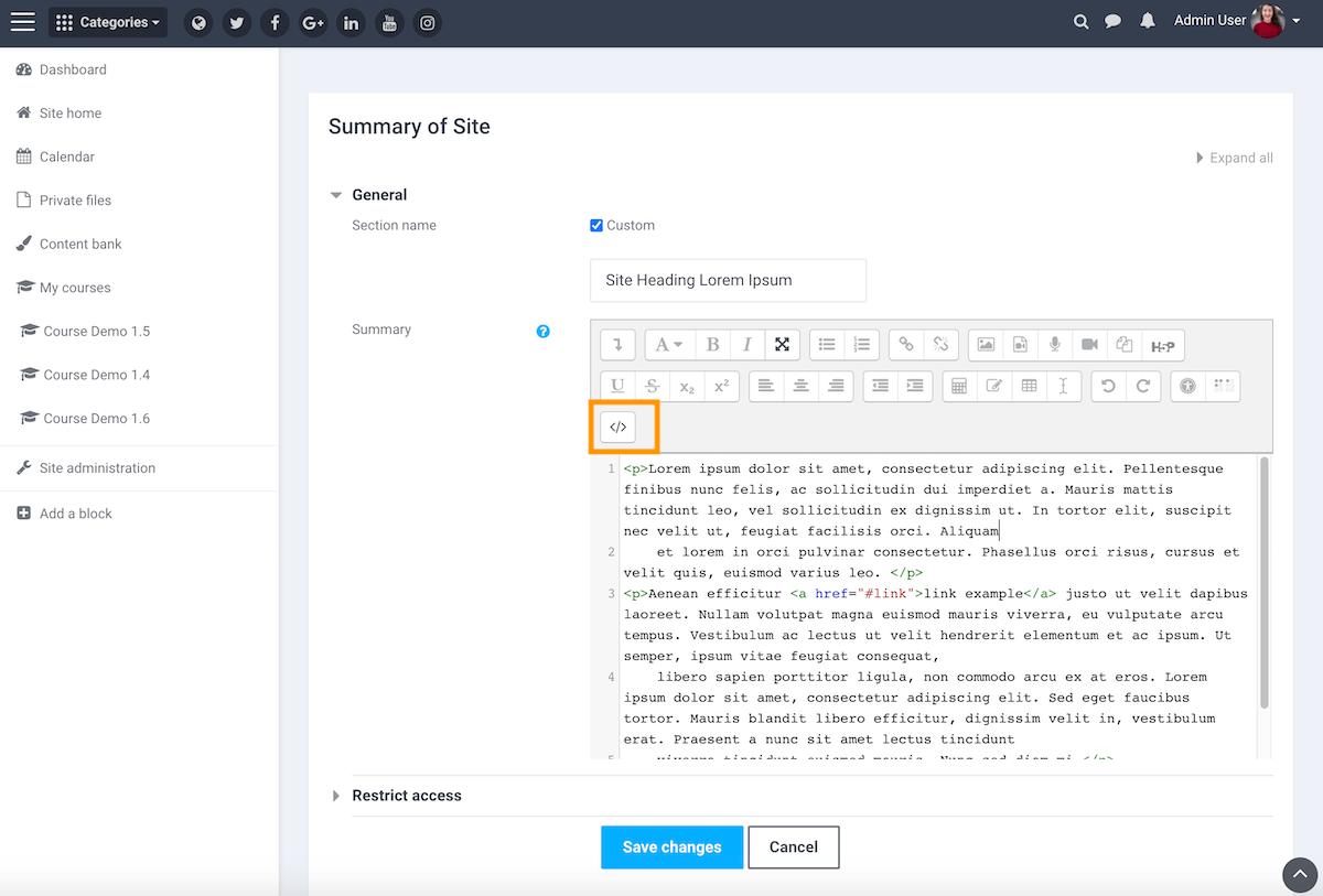 moodle-boost-theme-add-site-cta-block-html-editor